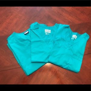 Lot of three sets of teal scrubs Size Small